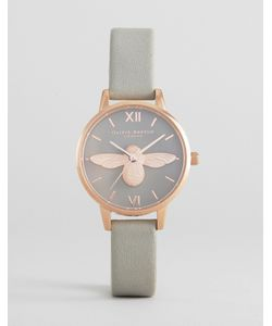 Olivia Burton | Rose Molded Bee Leather Watch