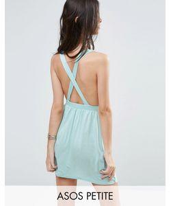 ASOS Petite   Cross Back Jersey Mini Beach Dress