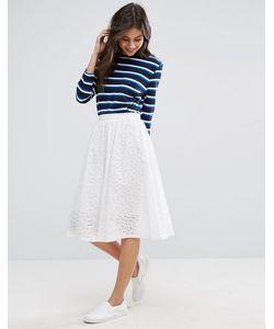 YMC | Broderie Anglais Peace Midi A Line Skirt