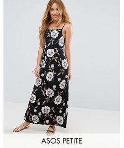 ASOS Petite   V Back Maxi Dress In Dark