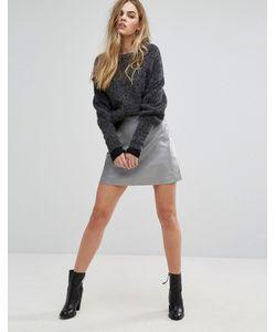Muubaa | Pannala Leather A-Line Skirt