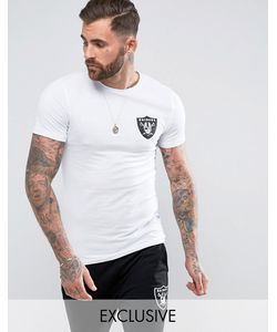 Majestic | Longline Raiders T-Shirt In Muscle Fit Exclusive To