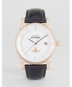 Vivienne Westwood | Leather Watch In Vv065swhbk