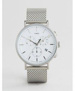 Timex   Fairfield Chronograph 41mm Mesh Watch In