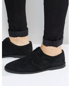 ASOS | Derby Shoes In Suede With Piped Edging