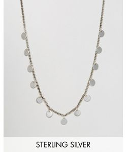 Fashionology | Sterling Multi Disc Necklace