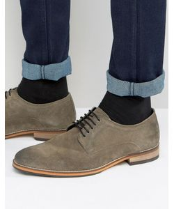 ASOS | Derby Shoes In Suede With Natural Sole