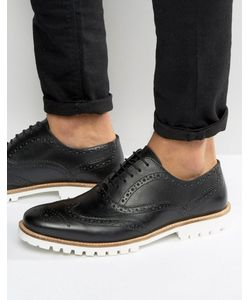 ASOS | Brogue Shoes In Leather With Cleated Sole