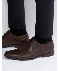 ASOS | Derby Shoes In Faux Leather With Texture Emboss