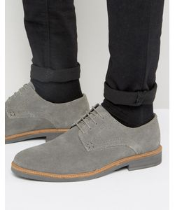 Silver Street | Lime Derby Shoes In Suede