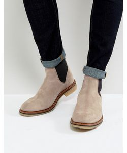 ASOS   Chelsea Boots In Suede With Natural Sole