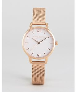 Olivia Burton | Begin To Blush Mesh Watch