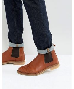 ASOS   Chelsea Boots With Weave Detail In Leather