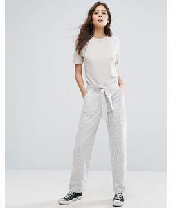 YMC | Linen Stripe Tie Waist Pant