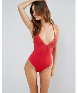 MINKPINK | Applique Lace Swimsuit