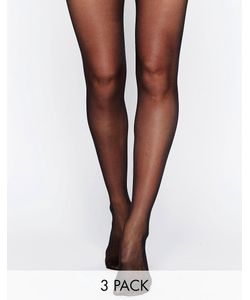 Wolford | Satin Touch 20 Denier Tights 3 Pack