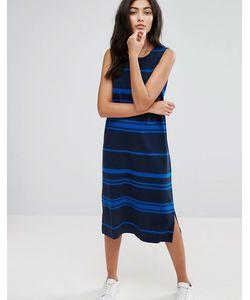 YMC | Engineered Stripe Jersey Shift Dress