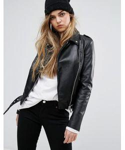Muubaa | Argal Leather Biker Jacket
