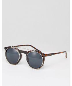 Jack & Jones | Round Sunglasses In Tort