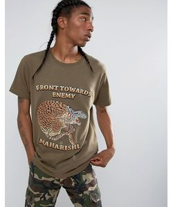 Maharishi | Embroidered Crouching Tiger T-Shirt