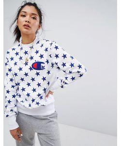 Champion | Crew Neck Sweatshirt With All Over Star Print