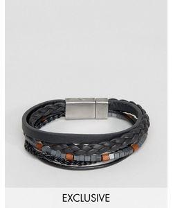 Seven London | Leather Beaded Bracelet In