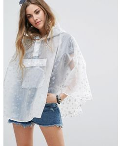 Rock & Religion | Star Printed Poncho Pac-A-Trench