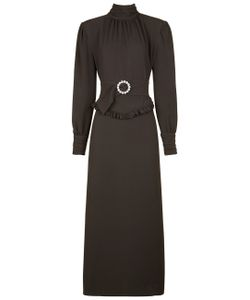 Alessandra Rich | High Neck Belted Dress
