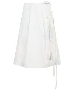 Arthur Arbesser | Ivory Cotton Cat Wrap Skirt