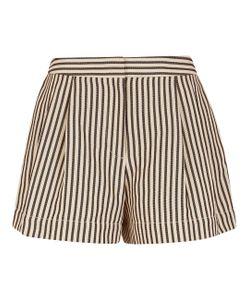 3.1 Phillip Lim   Ivory Striped Poplin Utility Shorts