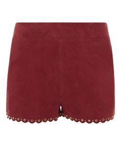 Vanessa Bruno | Burgundy Suede Eyelet Elos Shorts
