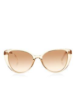 Linda Farrow | Rose Gold Cat Eye Sunglasses