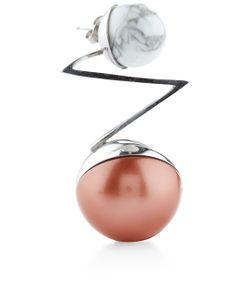 Leivankash | Rhodium Acis Single Earring