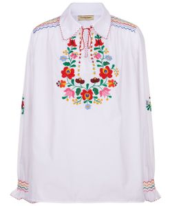 Muzungu Sisters | Embroidered Dora Collar Shirt