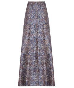 Alexander Lewis | Silver Jacquard A-Line Skirt