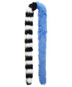 Charlotte Simone | Blue Faux Fur Candy Cane Stole