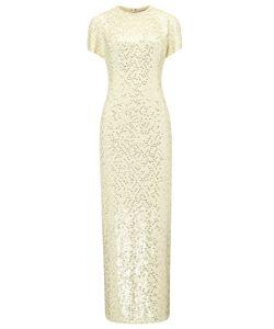 Jonathan Saunders | Buttermilk Silk Sequin Sidney Dress