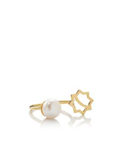 Leivankash | Split Band Pearl Ring