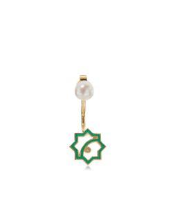 Leivankash | Enamel Pearl Drop Earrings
