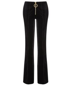 Thomas Tait | Velvet Slim Flared Trousers