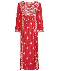Muzungu Sisters | Silk Embroide Midi Dress
