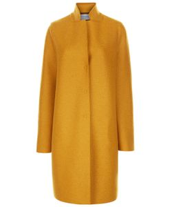 Harris Wharf | Mustard Single Breasted Cocoon Coat