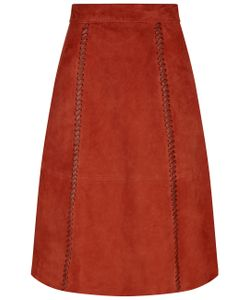 Vanessa Bruno | Burnt Suede Whipstitch Skirt