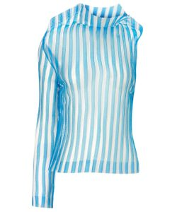 Thomas Tait | Stripe Sheer Ghost Top
