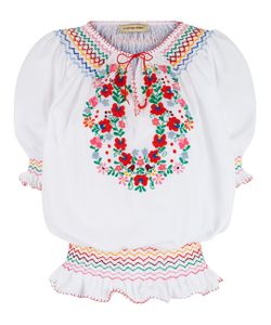 Muzungu Sisters | Floral Embroidered Dora Blouse