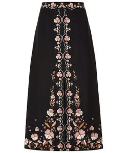 Vilshenko | Floral Embroidered Claire Skirt