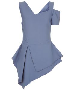 Antonio Berardi | Powder Asymmetric Peplum Top
