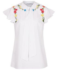 Vivetta | Embroidered Frill Sleeve Blouse