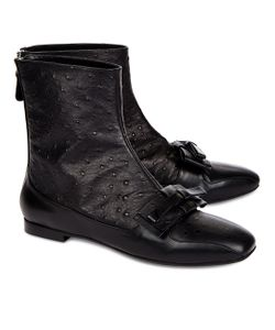 No21 | Ostrich Leather Bow Boots