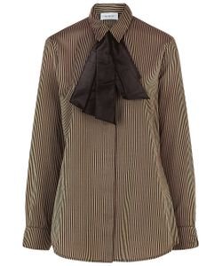 Isa Arfen | Knot Cuff Stripe Shirt In Mudd Club/Brown